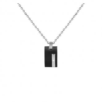 Collier Phebus acier diamant