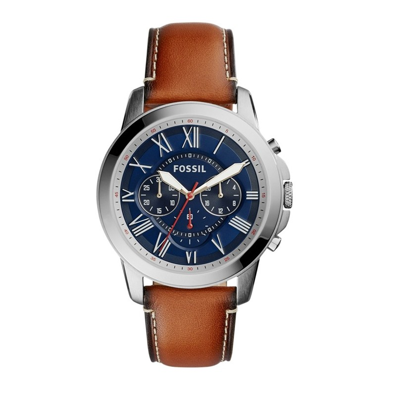 Montre Homme Fossil Grant cuir brun FS5210