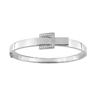 Bracelet jonc Guy Laroche ceinturon argent 925/000 et oxydes S22.75201