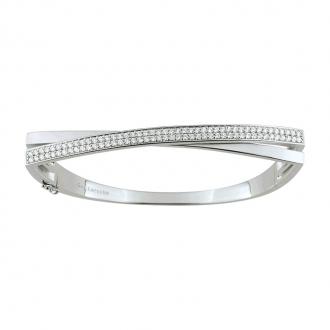 Bracelet jonc Guy Laroche croisée argent 925/000 et oxydes de zirconium S22.75101