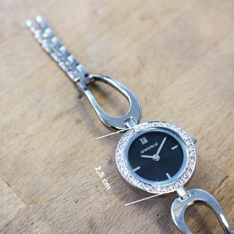 Montre Femme Amporelle métal argenté bracelet fantaisie P100637-A2