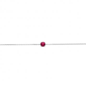 Bracelet Femme Carador argent 925/000 et pierre facettée teintée rubis