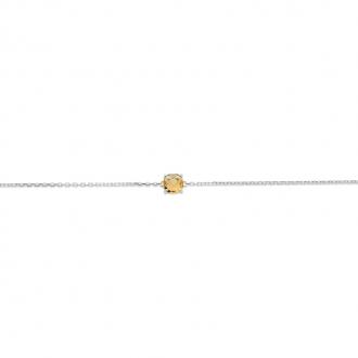 Bracelet Carador argent 925/000 et pierre facettée teintée citrine