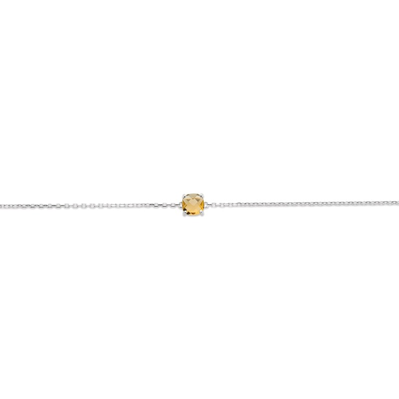 Bracelet Femme Carador argent 925/000 et pierre facettée teintée citrine