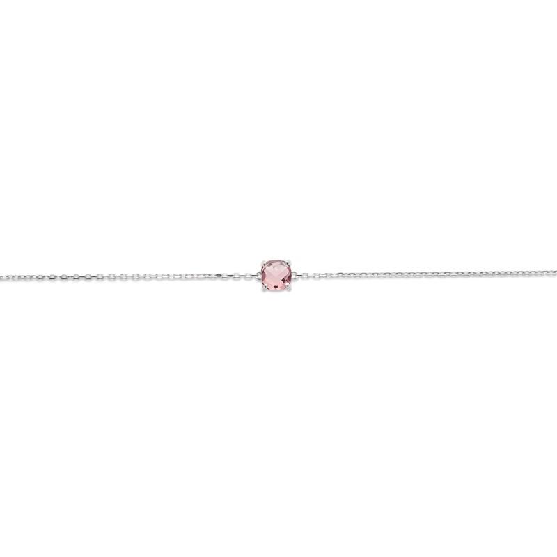 Bracelet Femme Carador argent 925/000 et pierre facettée teintée Tourmaline