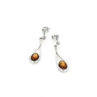 Boucles d'oreilles Carador argent 925/000ème ambre fantaisie