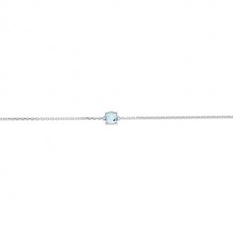 Bracelet Carador argent 925/000 et pierre facettée teintée aigue-marine