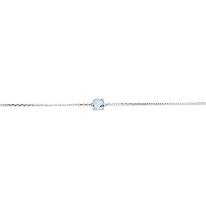 Bracelet Femme Carador argent 925/000 et pierre facettée teintée aigue-marine