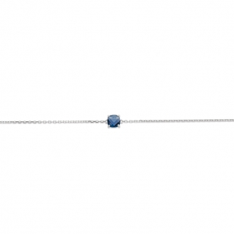 Bracelet Carador argent 925/000 et pierre facettée teintée saphir