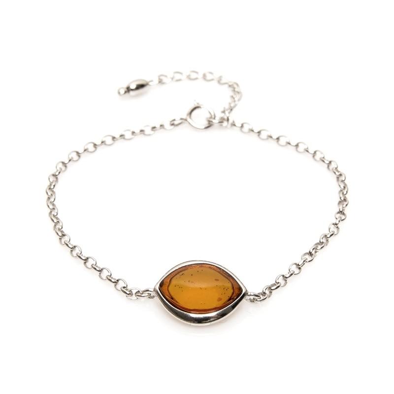 Bracelet Carador argent 925/000ème forme sphérique pierre ambre