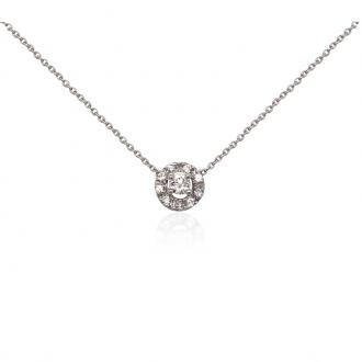 Collier Carador Or blanc 375/000e Princesse B97517