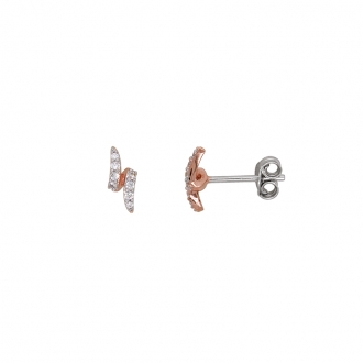 Boucles d'oreilles Silver Pop à doubles formes argent 925/000e