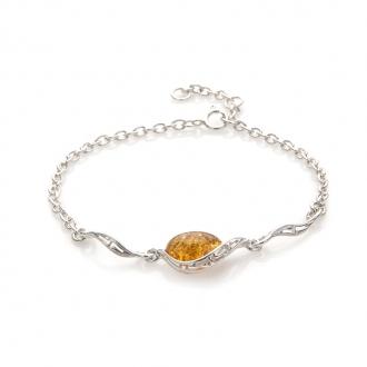 Bracelet Carador argent 925/000 pierre précieuse ambre