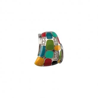 Pendentif Una Storia rectangle multicolore  BQ121171