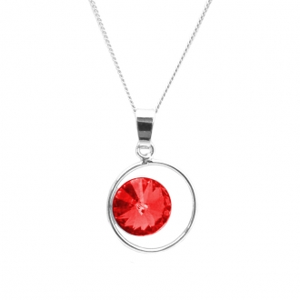 Collier Indicolite Juliette cristal rouge CO-JULI-227