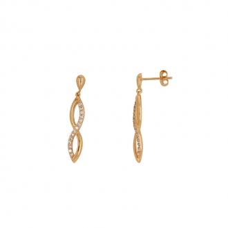 Boucles d'oreilles Carador plaqué or 22ER043CZ