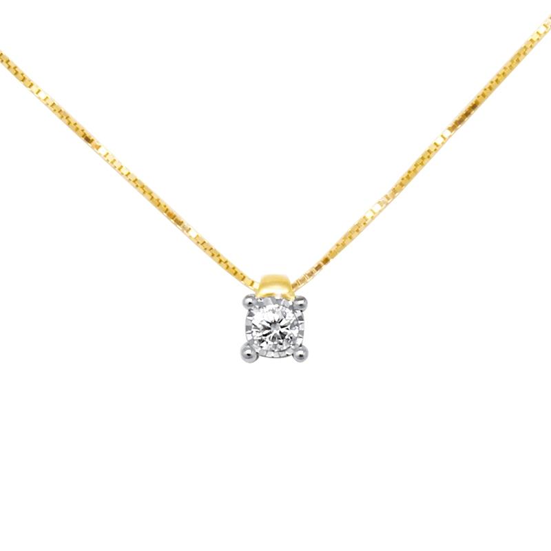 collier diamant 4 griffes