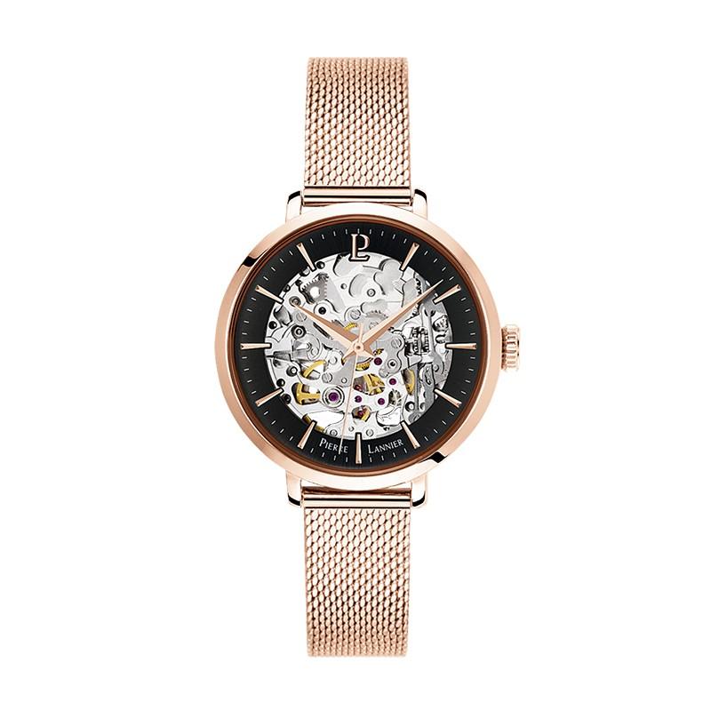 Montre Pierre Lannier Automatic dorée rose 313B938
