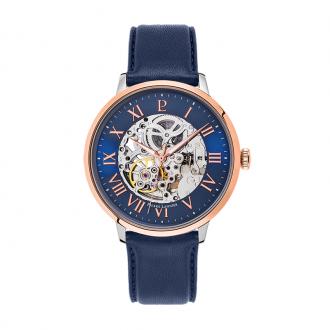 Montre Pierre Lannier Automatic cuir bleu 323B166