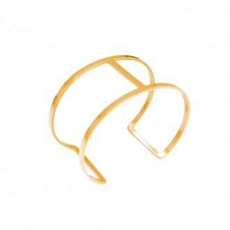 Bracelet Amporelle jonc double minimaliste en acier doré