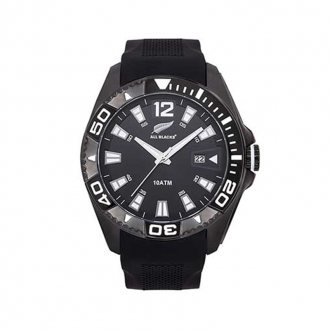Montre All Blacks bracelet silicone noir 680450