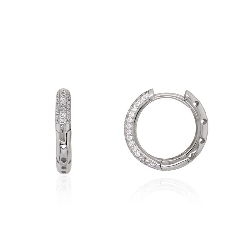mieux aimé f4348 2df00 Boucles d'oreilles Carador petites créoles argent 925/000 et zircons
