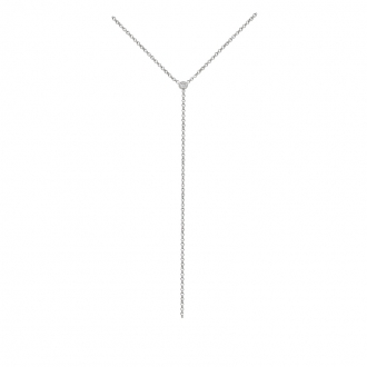 Collier Carador minimaliste argent 925/000 et oxyde de zirconium