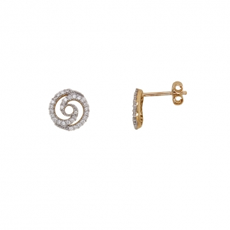 Boucles d'oreilles Carador Or 375/000 spirales