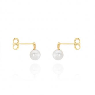 Boucles d'oreilles Carador or 375/000 perles