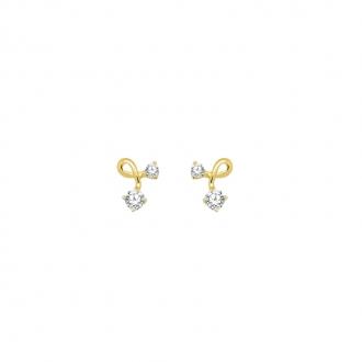 Boucles d'oreilles Carador or 375/000 et oxyde de zirconium
