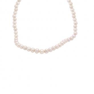 Collier Carador or jaune 375/000 perles