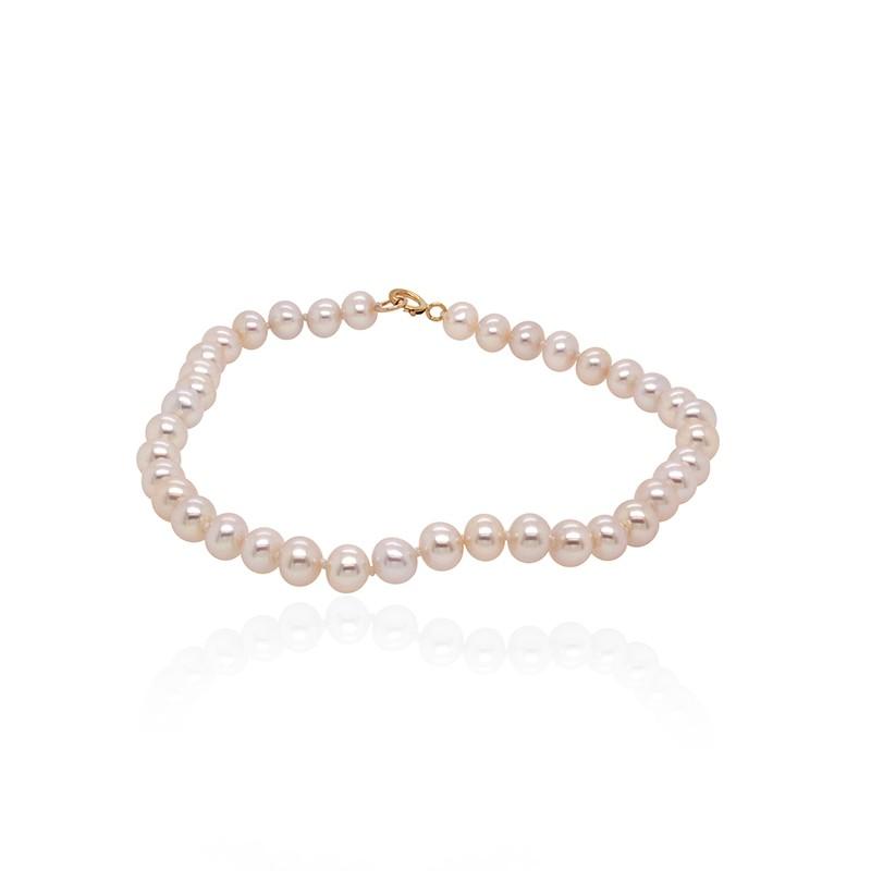 Bracelet Carador or 375/000 perles de culture