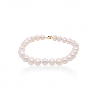 Bracelet Carador or 375/000 femme perles