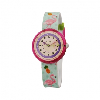 Montre enfant Lou&Léo Flamant rose P100820-H2