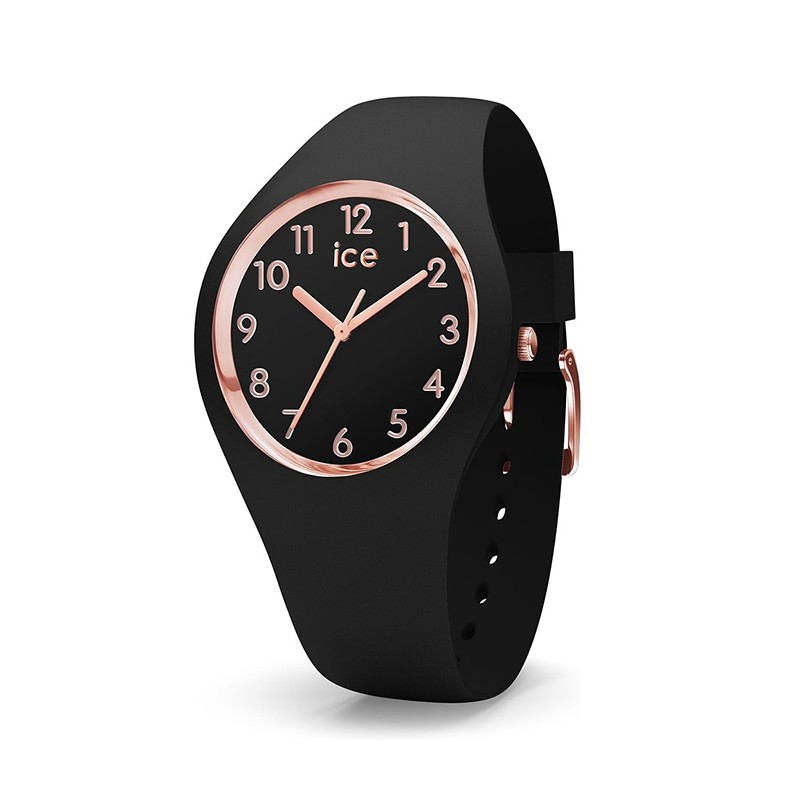 Montre Ice Watch glam black rose gold 015340