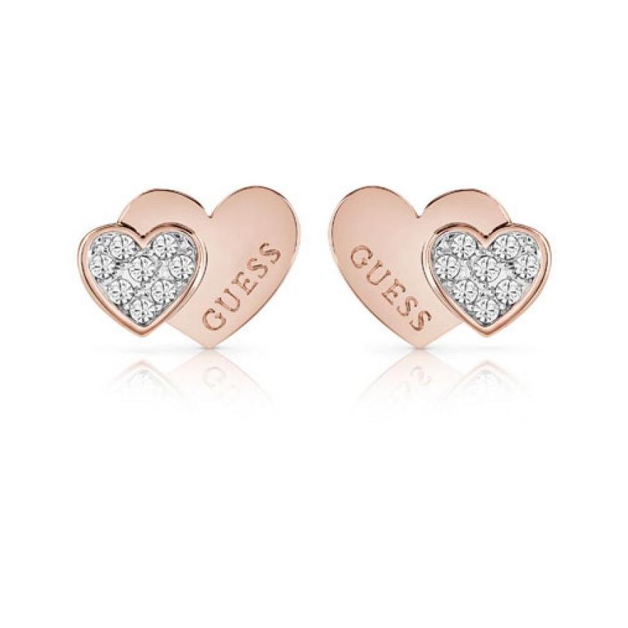 Boucles d oreilles Femme Guess Million Hearts dorées rose UBE84120 pour 7ddba8f6fe5e