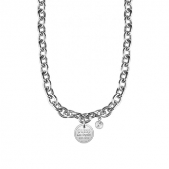 Collier femme Guess Los Angeles argenté UBN28056