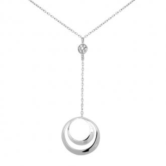 Collier Carador or blanc 375/000 formes sphériques oxyde
