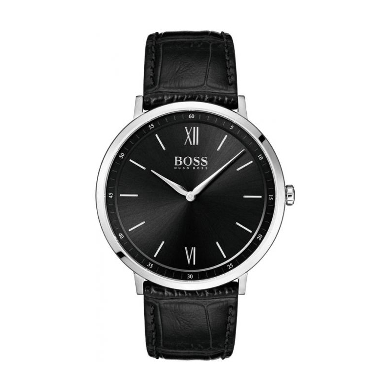 Montre Hugo Boss Essential en cuir noir, cadran noir 1513647