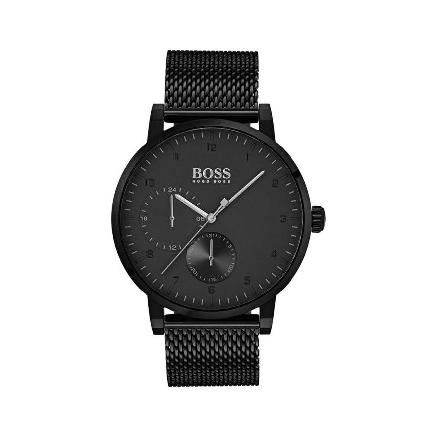 Montre Hugo Boss Oxygen acier noir, cadran noir 1513636 pour HOMME c3cccaf1888b