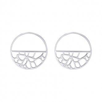 Boucles d'oreilles Les Georgettes Nenuphar 43 mm finition argent 70331061600000