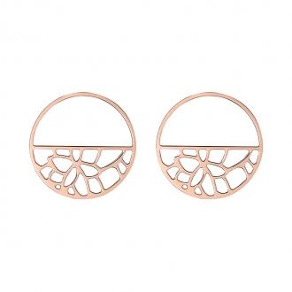 Boucles d'oreilles Les Georgettes Nenuphar 43 mm finition or rose 70331064100000