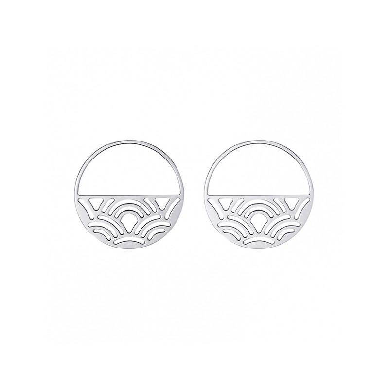 Boucles d'oreilles Les Georgettes Poisson 43 mm finition argent 70331041600000