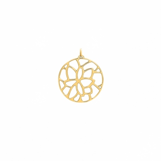 LES GEORGETTES PENDENTIF ROND Nenuphar finition or 45MM 70327851900000
