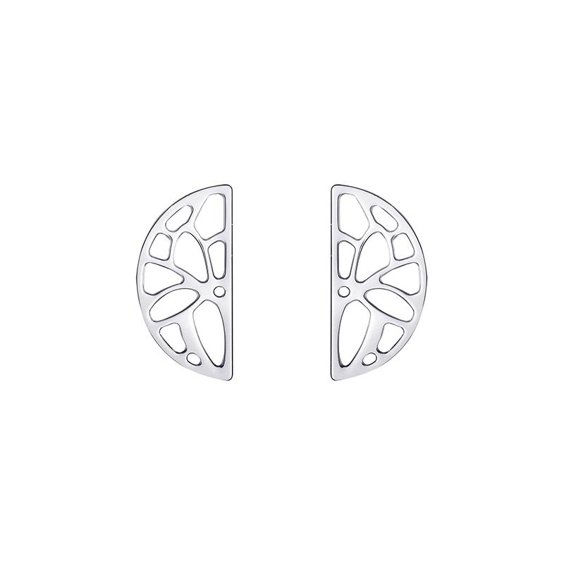 Boucles d'oreilles demi-lune Les Georgettes Nenuphar finition argent 70331091600000