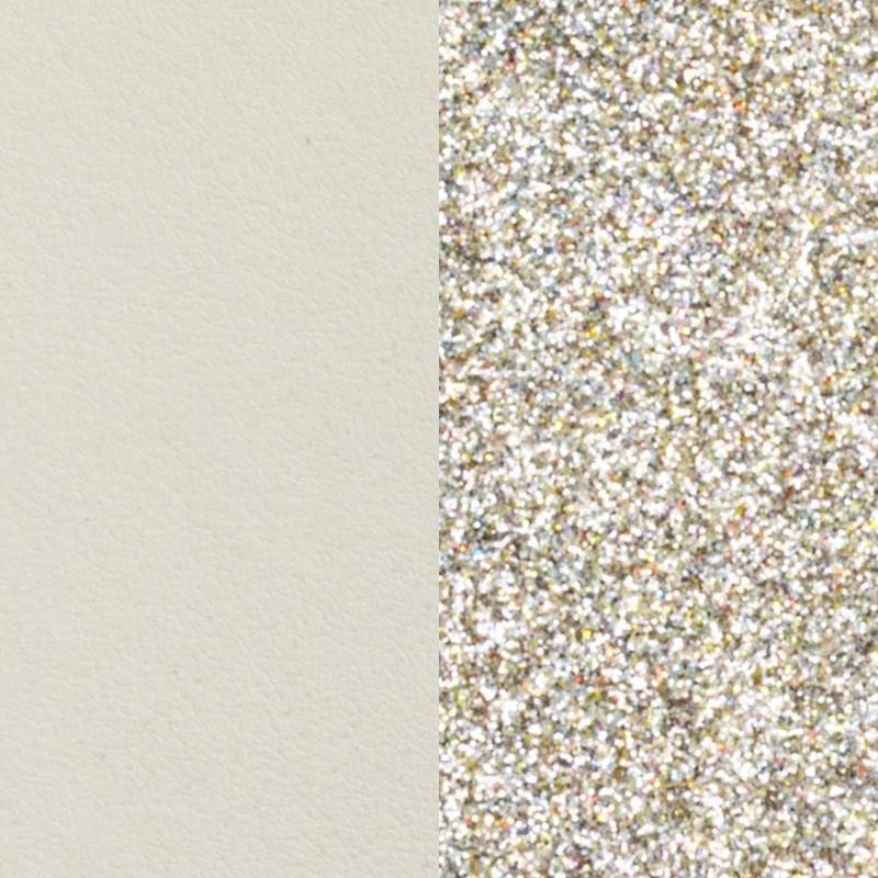 Vinyle pour boucles d'oreilles Créoles Les Georgettes Crème/Paillettes dorées 703218484C4000