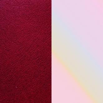 Vinyle pour bague 12 mm Les Georgettes Rouge carmin/Coquillage