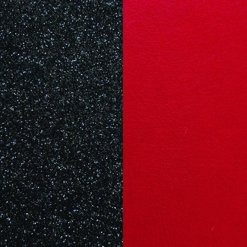 Cuir pour bracelet 8 mm Les Georgettes Glitter noir/Rouge 703215299CG000