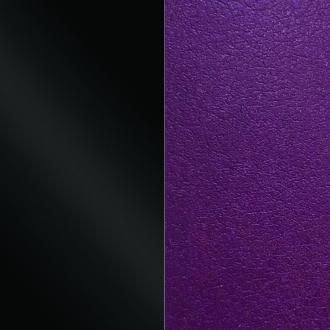 Cuir pour pendentif demi-lune 50 mm Les Georgettes Noir vernis/Violine 703215399CJ000
