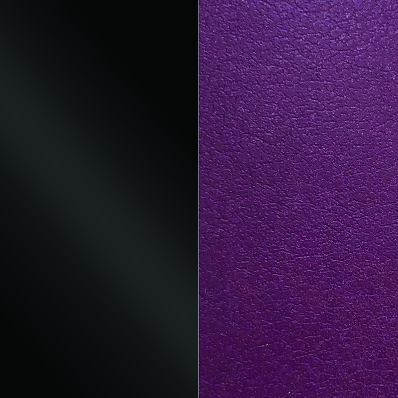 Vinyle pour bracelet 8 mm Les Georgettes Noir vernis/Violine 703215299CJ000